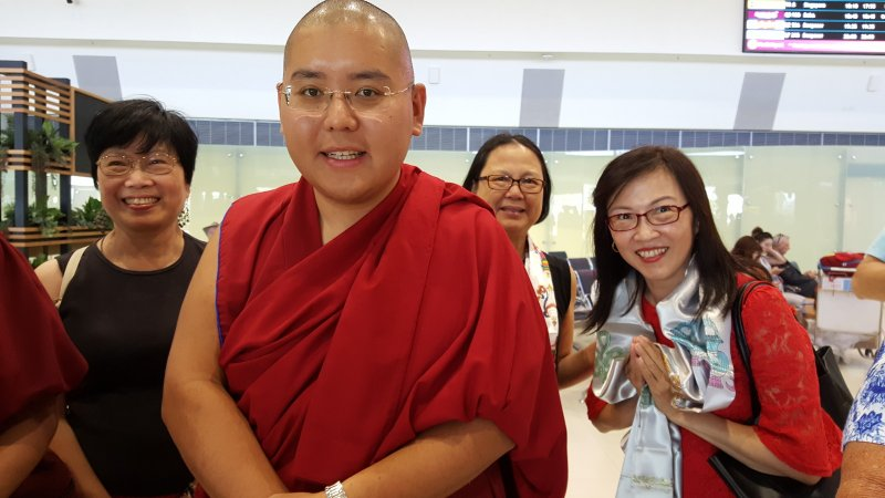Welcome Group 2 with His Eminence Ling Rinpoche in Perth Airport on 20 Mar 2018