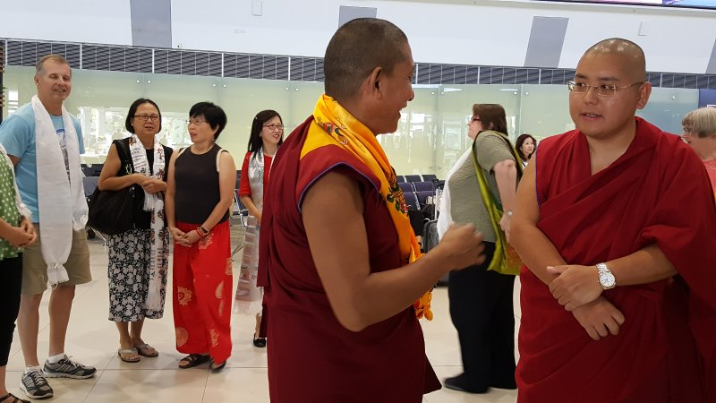 Welcome Group 4 with His Eminence Ling Rinpoche in Perth Airport on 20 Mar 2018